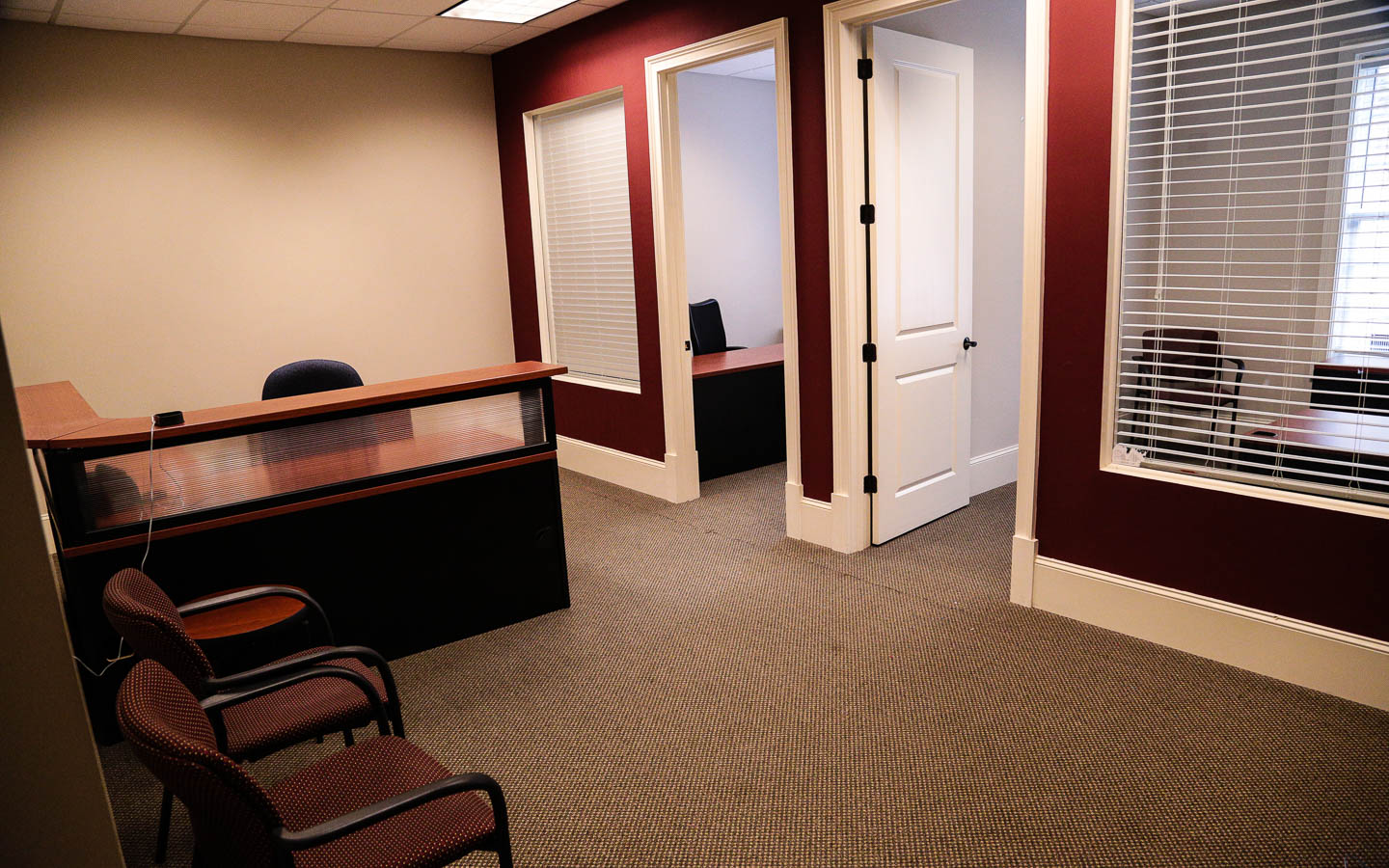 multi-office suite with reception area